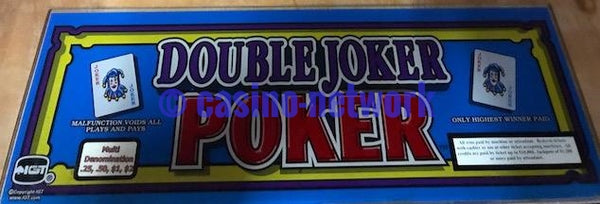 "IGT I Game Double Joker Poker 17"" Chop Top"