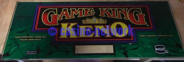 "IGT I Game, Game King Keno 17"" Chop Top"