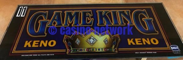 IGT I Game Game King Keno Slant Top Glass