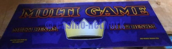 IGT I Game Game King Multi Game Slant Top Glass