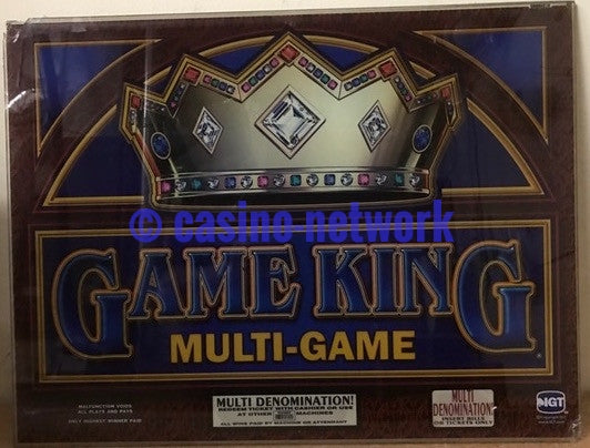 "IGT Game King Multi game 19""  Top Glass"
