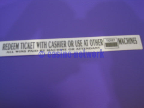 IGT S-2000 Insert Redeem Tickets....... (Brand New) IT46520