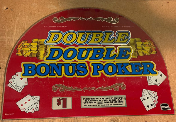 Double Double Bonus Poker Round Top