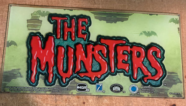 IGT I-Game The Munsters (Green) 17 Inch Belly Glass