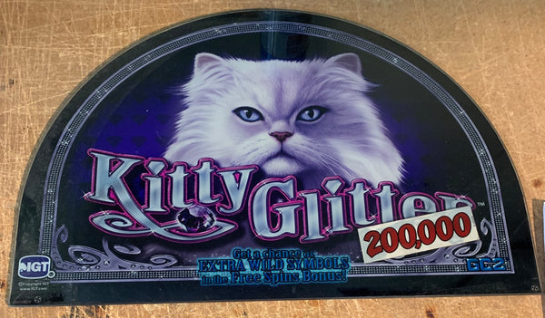 IGT I Game Kitty Glitter 17 Inch Round Top Glass