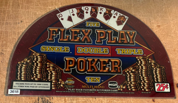 IGT Game King Flex Pay Poker 17 Inch Round Top Glass