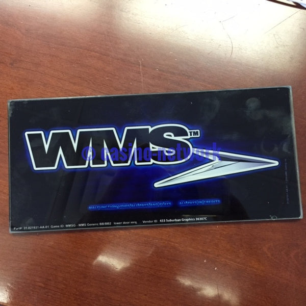 WMS Bluebird Lower Door Marquee glass OEM