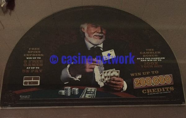 IGT I Game 17 inch Round Top Glass Kenny Rogers the Gambler