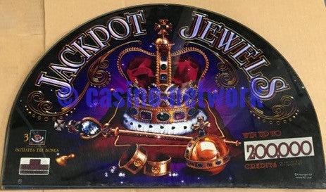 IGT I-Game Jackpot Jewels 17 inch Round Top glass