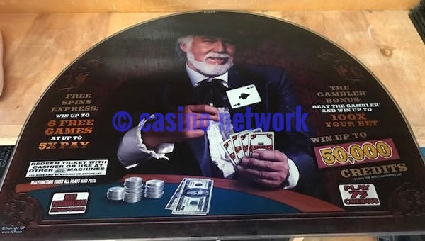 IGT I Game Kenny Rogers The Gambler Round top Glass