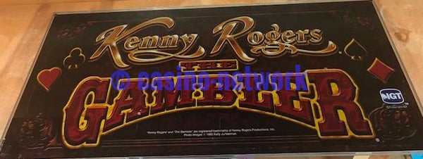 "IGT I Game 19""Kenny Rogers The Gambler Belly Glass"