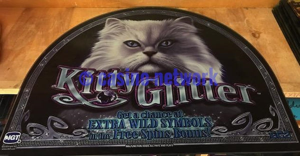 IGT I Game  Kitty Glitter  Round 19 inch Top Glass