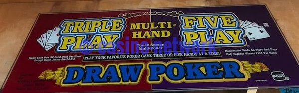 IGT I Game Multi Hand Draw Poker Slant top Glass