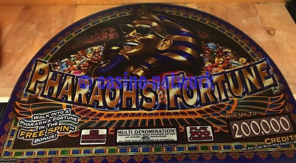 IGT I Game Pharaohs Fortune Round top Glass