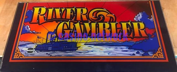 "IGT I Game 19""  River Gambler Belly  Glass"
