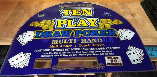 IGT I Game Ten Play Draw Poker Multi Hand