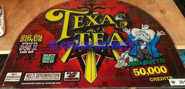 IGT I Game Texas Tea Round top Glass