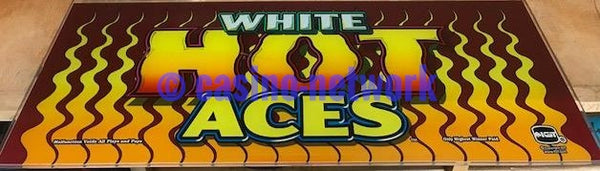 IGT I Game White Hot Aces Slant top Glass