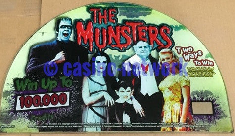 IGT I-Game Munsters 17 Inch Round Top Glass
