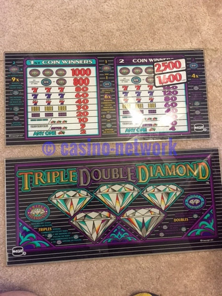 IGT Triple Double Diamond glass
