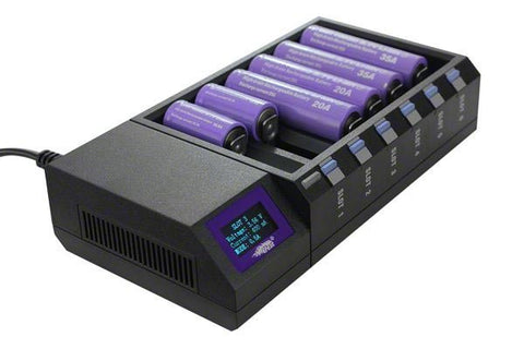Efest LCD LUC Blu6 Bluetooth 6 Bay Charger