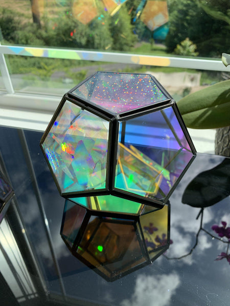 The Victoria - Geometric Sun Catcher/ Terrarium with LED Stand - Pour Gal Studios