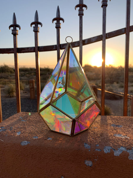 The Nicole - Geometric Sun Catcher/ Terrarium - Pour Gal Studios
