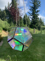 The Julia - Geometric Hanging Sphere - Chain Included - Pour Gal Studios