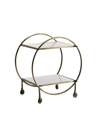 Bar Cart, messing en wit marmer.