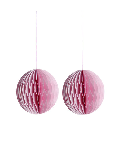Ornament Paper Roze set van 2