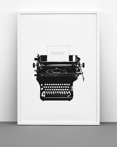 Poster Typed Love - 30x40 cm
