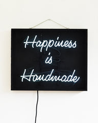 Neonquote  Happiness is Handmade