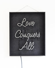Neonquote  Love Conquers All