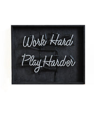 Neonquote  Work Hard Play Harder