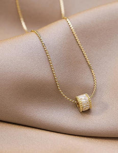 Gold Small Waist Diamond Necklace