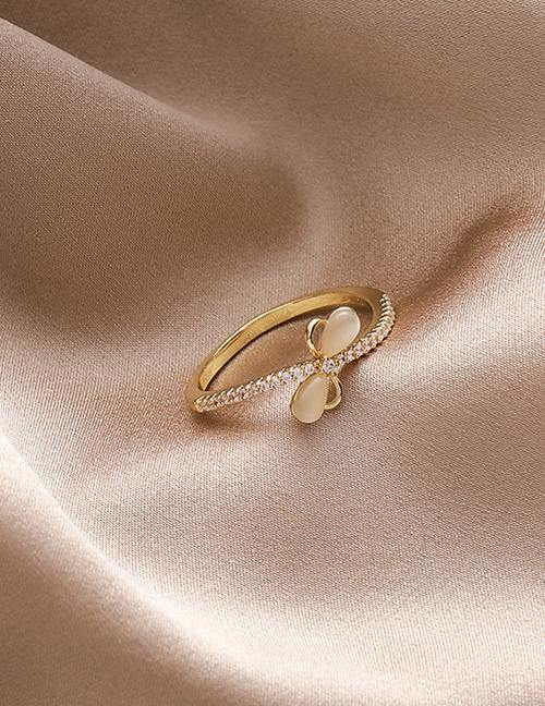 Load image into Gallery viewer, Gold Butterfly Ring