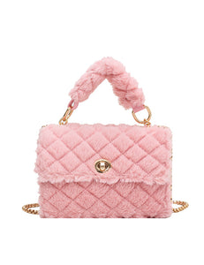 Pink Furry Shoulder Bag