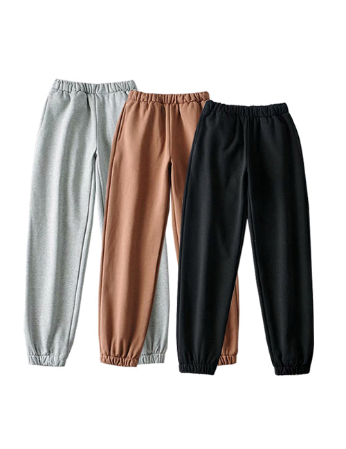 Multi Color Elastic Waist and Cuff Fleece Jogger Co-Ord Pants