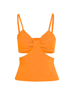 Orange Cut Out Cami Top