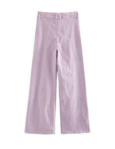 Purple Straight Leg Jeans