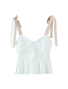 White Corset Self-Tie Top
