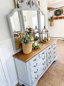 *SOLD* Cottage style distressed dresser