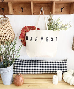 HARVEST over sized canvas tote