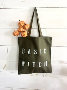BASIC WITCH army green tote