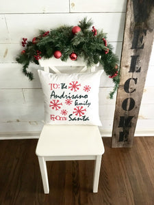 Personalized Christmas Pillow Cover | Christmas pillow | holiday decor | Christmas throw pillow cover | Holiday throw pillow | Santa pillow