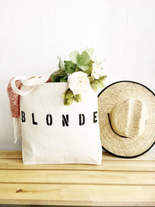BLONDE over sized canvas tote