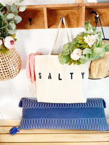SALTY over sized canvas tote