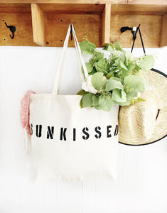 SUNKISSED over sized canvas tote