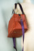 Saddle Brown Faux Leather Quinn Handbag