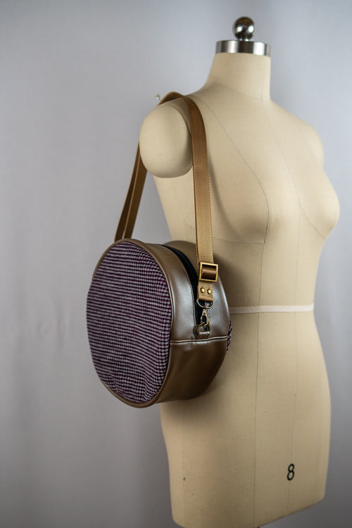 Metallic Brown Winnie Handbag